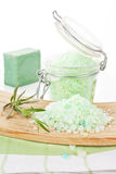 Bath salt. Wellness background. Royalty Free Stock Photo