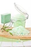 Bath salt. Wellness background. Royalty Free Stock Photo