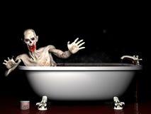 Bath Salt Zombie. An undead zombie taking a bath salt bath Stock Image
