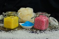 Bath salts for all uses royalty free stock images