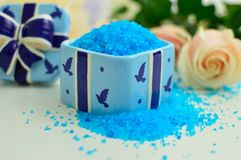 Bath salts for all uses stock photo