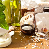 Bath Salts And Other Skin Care Products Royalty Free Stock Images