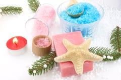 Bath Salts And Grapes Soap Royalty Free Stock Image