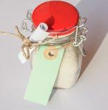 Bath salts jar Royalty Free Stock Photography