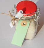 Bath salts jar Stock Photo