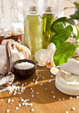Bath salts and other skin care products Stock Image