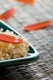 Bath salts and petals. Royalty Free Stock Photography