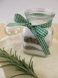 Bath salts with rosemary Stock Image