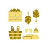 Bath and sauna Accessories Stock Image
