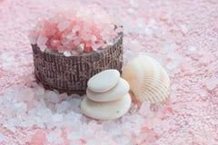 Bath. Sea salt Royalty Free Stock Photography