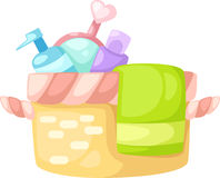 Bath set vector Royalty Free Stock Photography