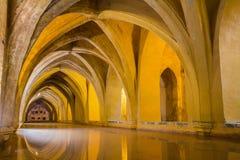 Bath in seville alcazar stock photos