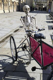 Bath Skeleton. Bizzare Bath Skeleton Advertisement City Centre Royalty Free Stock Photography