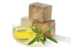 Bath soap olive oil Royalty Free Stock Photos
