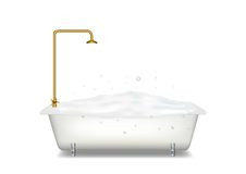 Bath with soap Royalty Free Stock Photography