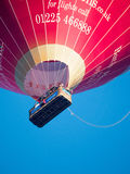 BATH, SOMERSET/UK - OCTOBER 02 : Hot Air Balloon Flying over Bat Stock Photo
