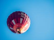 BATH, SOMERSET/UK - OCTOBER 02 : Hot Air Balloon Flying over Bat Royalty Free Stock Photo