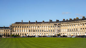 BATH, SOMERSET/UK - OCTOBER 02 : Houses in the Royal Crescent in Stock Photos