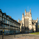 BATH, SOMERSET/UK - OCTOBER 02 : View of Bath Abbey in Bath Some. Rset on October 02, 2016 Royalty Free Stock Images
