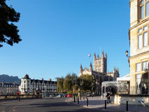 BATH, SOMERSET/UK - OCTOBER 02 : View of Bath Abbey in Bath Some. Rset on October 02, 2016. Unidentified people Stock Photography
