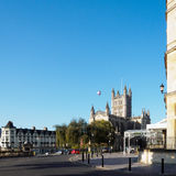 BATH, SOMERSET/UK - OCTOBER 02 : View of Bath Abbey in Bath Some. Rset on October 02, 2016. Unidentified people Royalty Free Stock Image