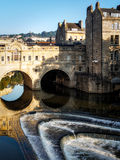 BATH, SOMERSET/UK - OCTOBER 02 : View of Pulteney Bridge and Wei Stock Images