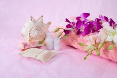 Bath and spa accessories Stock Image