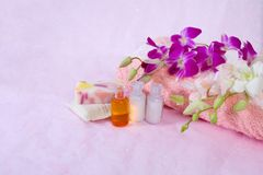 Bath and spa accessories Royalty Free Stock Image