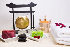 Bath and spa items Stock Image