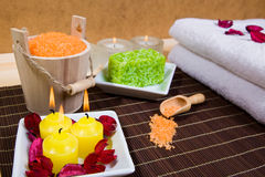 Bath and spa items Royalty Free Stock Image