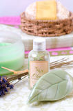 Bath/Spa items. Assorted Bath/Spa therapy items royalty free stock photography