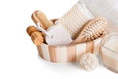 Bath Spa Massage Kit. Isolated Over White Background Stock Photography