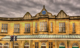 Bath Spa railway station, South West England Stock Image