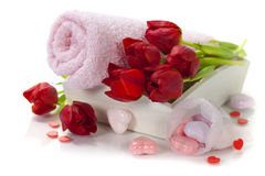 Bath and spa Valentine theme Royalty Free Stock Photo