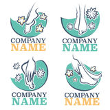 Bath and spa. For your foot, vector emblems Stock Photo
