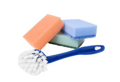 Bath sponge and bath brush Stock Images