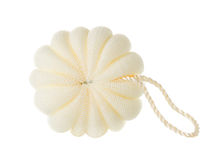 Bath sponge. Close-up isolated on white background Royalty Free Stock Photos