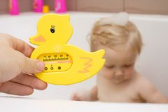 Bath thermometer Stock Image