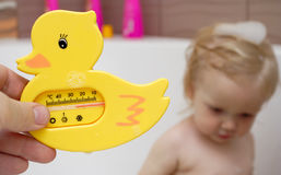 Bath thermometer stock images