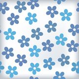 Bath tile with sealess floral motif in colors Royalty Free Stock Photos