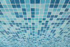 Bath tiled texture with blue squares Royalty Free Stock Photos