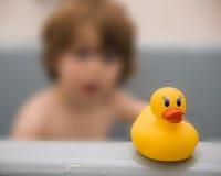Bath time. Young boy taking a bath Stock Photography