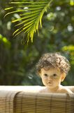 Bath Time. In the tropical garden royalty free stock photo