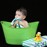 Bath Time for Baby stock image