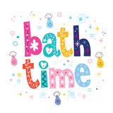 Bath time decorative lettering type design Royalty Free Stock Photo