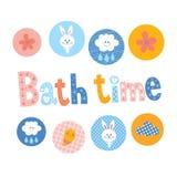 Bath time design royalty free illustration