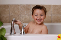 Bath time fun Royalty Free Stock Image