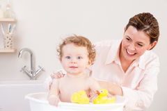 Bath Time Fun Stock Photo
