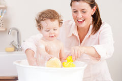 Bath Time Fun Stock Image