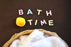 Bath time. Take a bath. Cleaning Royalty Free Stock Photo